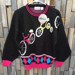 Woman's vintage retro 80s sweater knit medium